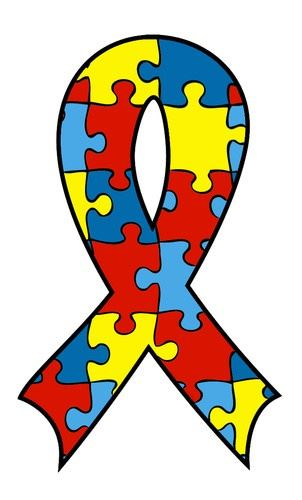 A graphic of the autism awareness ribbon.